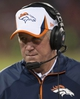 Aug 8, 2013; San Francisco, CA, USA; Denver Broncos head coach John Fox looks on from the sideline during the third quarter of the game against the San Francisco 49ers at Candlestick Park. Mandatory Credit: Ed Szczepanski-USA TODAY Sports