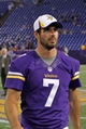Aug 9, 2013; Minneapolis, MN, USA; Minnesota Vikings quarterback Christian Ponder (7) looks on following the game against the Houston Texans at the Metrodome. The Texans defeated the Vikings 27-13. Mandatory Credit: Brace Hemmelgarn-USA TODAY Sports