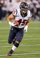 Aug 9, 2013; Minneapolis, MN, USA; Houston Texans fullback Zach Boren (45) runs with the ball in the second half against the Minnesota Vikings at the Metrodome. The Texans won 27-13. Mandatory Credit: Jesse Johnson-USA TODAY Sports