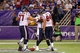 Aug 9, 2013; Minneapolis, MN, USA; Houston Texans running back Ray Graham (37) celebrates with offensive tackle David Quessenberry (77) and tight end Ryan Griffin (84) after scoring a touchdown in the fourth quarter against the Minnesota Vikings. The Texans won 27-13. Mandatory Credit: Jesse Johnson-USA TODAY Sports