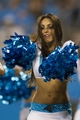 Aug 9, 2013; Charlotte, NC, USA; The Carolina Panthers cheerleaders perform during a timeout in the second half against the Chicago Bears. The Panthers defeated the Bears 24-17. Mandatory Credit: Jeremy Brevard-USA TODAY Sports