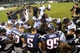 Aug 9, 2013; Philadelphia, PA, USA; New England Patriots and Philadelphia Eagles players pray after the second half of a preseason game at Lincoln Financial Field. The Patriots won 31-22. Mandatory Credit: Joe Camporeale-USA TODAY Sports