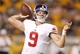 Aug 10, 2013; Pittsburgh, PA, USA; New York Giants quarterback Ryan Nassib (9) passes the ball against the Pittsburgh Steelers during the fourth quarter at Heinz Field. The New York Giants won 18-13. Mandatory Credit: Charles LeClaire-USA TODAY Sports
