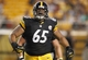 Aug 10, 2013; Pittsburgh, PA, USA; Pittsburgh Steelers defensive tackle Al Woods (65) reacts after registering a sack against the New York Giants during the fourth quarter at Heinz Field. The New York Giants won 18-13. Mandatory Credit: Charles LeClaire-USA TODAY Sports