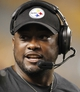 Aug 10, 2013; Pittsburgh, PA, USA; Pittsburgh Steelers head coach Mike Tomlin reacts on the sidelines against the New York Giants during the fourth quarter at Heinz Field. The New York Giants won 18-13. Mandatory Credit: Charles LeClaire-USA TODAY Sports
