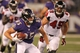 Aug 15, 2013; Baltimore, MD, USA; Baltimore Ravens tight end Matt Furstenburg (85) runs after his catch against the Atlanta Falcons at M&T Bank Stadium. Mandatory Credit: Mitch Stringer-USA TODAY Sports