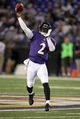 Aug 15, 2013; Baltimore, MD, USA; Baltimore Ravens quarterback Tyrod Taylor (2) throws a pass against the Atlanta Falcons at M&T Bank Stadium. Mandatory Credit: Mitch Stringer-USA TODAY Sports