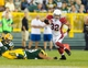 Aug 9, 2013; Green Bay, WI, USA; Arizona Cardinals safety Tyrann Mathieu (32) during the game against the Green Bay Packers at Lambeau Field.  The Cardinals won 17-0.  Mandatory Credit: Jeff Hanisch-USA TODAY Sports