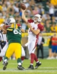 Aug 9, 2013; Green Bay, WI, USA; Arizona Cardinals quarterback Ryan Lindley (14) during the game against the Green Bay Packers at Lambeau Field.  The Cardinals won 17-0.  Mandatory Credit: Jeff Hanisch-USA TODAY Sports