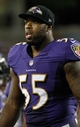Aug 8, 2013; Tampa, FL, USA; Baltimore Ravens outside linebacker Terrell Suggs (55) against the Tampa Bay Buccaneers during the second half at Raymond James Stadium. Mandatory Credit: Kim Klement-USA TODAY Sports