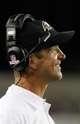Aug 8, 2013; Tampa, FL, USA; Baltimore Ravens head coach John Harbaugh smiles against the Tampa Bay Buccaneers during the second half at Raymond James Stadium. Mandatory Credit: Kim Klement-USA TODAY Sports