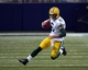 Aug 17, 2013; St. Louis, MO, USA; Green Bay Packers quarterback Graham Harrell (6) scrambles for 10 yards against the St. Louis Rams during the first half at the Edward Jones Dome. Mandatory Credit: Scott Rovak-USA TODAY Sports