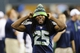 Aug 17, 2013; Seattle, WA, USA; Seattle Seahawks cornerback Richard Sherman (25) on the sidelines during the 2nd half against the Denver Broncos at CenturyLink Field. Mandatory Credit: Steven Bisig-USA TODAY Sports