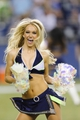 Aug 17, 2013; Seattle, WA, USA; Seattle Seahawks cheerleader Cori performs during a timeout during the 2nd half against the Denver Broncos at CenturyLink Field. Seattle defeated Denver 40-10. Mandatory Credit: Steven Bisig-USA TODAY Sports