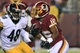 Aug 19, 2013; Landover, MD, USA; Washington Redskins wide receiver Skye Dawson (16) runs with the ball as Pittsburgh Steelers linebacker Kion Wilson (48) chases in the fourth quarter at FedEx Field. The Redskins won 24-13. Mandatory Credit: Geoff Burke-USA TODAY Sports