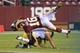 Aug 19, 2013; Landover, MD, USA; Washington Redskins wide receiver Skye Dawson (16) is tackled by Pittsburgh Steelers defensive back Ross Ventrone (41) in the fourth quarter at FedEx Field. The Redskins won 24-13. Mandatory Credit: Geoff Burke-USA TODAY Sports