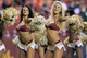Aug 19, 2013; Landover, MD, USA; Washington Redskins cheerleaders dance on the field against the Pittsburgh Steelers at FedEx Field. The Redskins won 24-13. Mandatory Credit: Geoff Burke-USA TODAY Sports