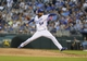 Aug 20, 2013; Kansas City, MO, USA; Kansas City Royals starting pitcher Ervin Santana (54) delivers a pitch in the third inning against the Chicago White Sox at Kauffman Stadium. Mandatory Credit: John Rieger-USA TODAY Sports
