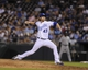 Aug 20, 2013; Kansas City, MO, USA; Kansas City Royals relief pitcher Aaron Crow (43) delivers a pitch in the ninth inning against the Chicago White Sox at Kauffman Stadium. Chicago won the game 2-0. Mandatory Credit: John Rieger-USA TODAY Sports