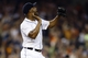 Aug 21, 2013; Detroit, MI, USA; Detroit Tigers relief pitcher Jose Veras (31) reacts to the last out against the Minnesota Twins at Comerica Park. Detroit won 7-1. Mandatory Credit: Rick Osentoski-USA TODAY Sports