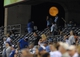 Aug 21, 2013; Kansas City, MO, USA; A general view of the full moon rising over the crowd during the fifth inning of the game between the Kansas City Royals and Chicago White Sox at Kauffman Stadium. Mandatory Credit: Denny Medley-USA TODAY Sports