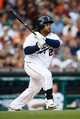Aug 3, 2013; Detroit, MI, USA; Detroit Tigers first baseman Prince Fielder (28) at bat against the Chicago White Sox at Comerica Park. Mandatory Credit: Rick Osentoski-USA TODAY Sports