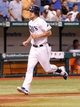 Aug 14, 2013; St. Petersburg, FL, USA; Tampa Bay Rays right fielder Wil Myers (9) runs around the bases after he hit a home run against the Seattle Mariners at Tropicana Field. Tampa Bay Rays defeated the Seattle Mariners 5-4. Mandatory Credit: Kim Klement-USA TODAY Sports