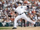 Aug 22, 2013; Detroit, MI, USA; Detroit Tigers relief pitcher Drew Smyly (33) pitches in the eighth inning against the Minnesota Twins at Comerica Park. Mandatory Credit: Rick Osentoski-USA TODAY Sports