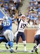 Aug 22, 2013; Detroit, MI, USA; New England Patriots quarterback Ryan Mallett (15) attempts to pass the ball against the Detroit Lions during 2nd half at Ford Field. Lions won 40-9.  Mandatory Credit: Mike Carter-USA TODAY Sports