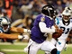 Aug 22, 2013; Baltimore, MD, USA; Baltimore Ravens quarterback Tyrod Taylor (2) runs with the ball in the third quarter against the Carolina Panthers at M&T Bank Stadium. Mandatory Credit: Evan Habeeb-USA TODAY Sports