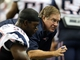 Aug 22, 2013; Detroit, MI, USA; New England Patriots head coach Bill Belichick talks to players during 2nd half at Ford Field. Lions won 40-9.  Mandatory Credit: Mike Carter-USA TODAY Sports