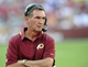 Aug 24, 2013; Landover, MD, USA; Washington Redskins head coach Mike Shanahan on the sidelines during the second half against the Buffalo Bills at FedEX Field. Mandatory Credit: Brad Mills-USA TODAY Sports