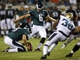 Aug 24, 2013; Jacksonville, FL, USA; Philadelphia Eagles kicker Alex Henery (6) makes a 45-yard field goal during the second quarter of their game against the Jacksonville Jaguars at EverBank Field. Mandatory Credit: Phil Sears-USA TODAY Sports