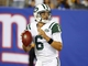 Aug 24, 2013; East Rutherford, NJ, USA; New York Jets quarterback Mark Sanchez (6) goes back to pass against the New York Giants during the second half at MetLife Stadium. New York Jets defeat the New York Giants 24-21 in OT. Mandatory Credit: Jim O'Connor-USA TODAY Sports