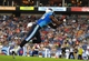 Aug 24, 2013; Nashville, TN, USA; Tennessee Titans wide receiver Michael Preston (14) catches a pass for a touchdown against the Atlanta Falcons during the second half at LP Field. The Titans beat the Falcons 27-16. Mandatory Credit: Don McPeak-USA TODAY Sports
