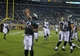 Aug 24, 2013; Jacksonville, FL, USA; Philadelphia Eagles running back Chris Polk (32) celebrates after scoring the game-winning touchdown during the fourth quarter of their game against the Jacksonville Jaguars at EverBank Field. The Philadelphia Eagles beat the Jacksonville Jaguars 31-24. Mandatory Credit: Phil Sears-USA TODAY Sports