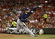 Aug 24, 2013; Cincinnati, OH, USA; Milwaukee Brewers relief pitcher Mike Gonzalez throws against the Cincinnati Reds in the seventh  inning at Great American Ball Park. The Reds defeated the Brewers 6-3.Mandatory Credit: David Kohl-USA TODAY Sports