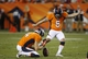 Aug 24, 2013; Denver, CO, USA; Denver Broncos kicker Matt Prater (5) kicks a field goal to tie the game during the second half against the St. Louis Rams at Sports Authority Field at Mile High. The Broncos won 27-26.  Mandatory Credit: Chris Humphreys-USA TODAY Sports