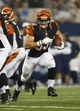 Aug 24, 2013; Arlington, TX, USA; Cincinnati Bengals running back Rex Burkhead (33) runs the ball in the fourth quarter of the game against the Dallas Cowboys at AT&T Stadium.  The Cowboys won 24-18. Mandatory Credit: Tim Heitman-USA TODAY Sports