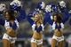 Aug 24, 2013; Arlington, TX, USA; Dallas Cowboys cheerleaders perform during a time out in the game against the Cincinnati Bengals at AT&T Stadium.  The Cowboys won 24-18. Mandatory Credit: Tim Heitman-USA TODAY Sports