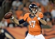 Aug 24, 2013; Denver, CO, USA; Denver Broncos quarterback Brock Osweiler (17) prepares to pass  in the third quarter against the St. Louis Rams at Sports Authority Field .The Broncos defeated the Rams 27-26. Mandatory Credit: Ron Chenoy-USA TODAY Sports
