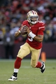 Aug 25, 2013; San Francisco, CA, USA; San Francisco 49ers quarterback B.J. Daniels (5) looks to pass the ball against the Minnesota Vikings  in the fourth quarter at Candlestick Park. The 49ers defeated the Vikings 34-14. Mandatory Credit: Cary Edmondson-USA TODAY Sports