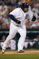 Aug 21, 2013; Detroit, MI, USA; Detroit Tigers first baseman Prince Fielder (28) runs towards first against the Minnesota Twins at Comerica Park. Mandatory Credit: Rick Osentoski-USA TODAY Sports