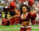 Aug 17, 2013; Phoenix, AZ, USA; Arizona Cardinals cheerleaders perform during the game against the Dallas Cowboys during the forth quarter at University of Phoenix Stadium. The Cardinals defeated the Cowboys 12-7. Mandatory Credit: Casey Sapio-USA TODAY Sports
