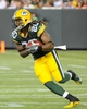 Aug 23, 2013; Green Bay, WI, USA;  Green Bay Packers running back Alex Green (20) during the game against the Seattle Seahawks at Lambeau Field. Mandatory Credit: Benny Sieu-USA TODAY Sports