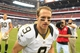 Aug 25, 2013; Houston, TX, USA; New Orleans Saints quarterback Drew Brees (9) runs off the field against the Houston Texans after the game at Reliant Stadium. The Saints won 31-23. Mandatory Credit: Thomas Campbell-USA TODAY Sports