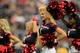 Aug 25, 2013; Houston, TX, USA; Houston Texans cheerleaders entertain fans against the New Orleans Saints during the second half at Reliant Stadium. The Saints won 31-23. Mandatory Credit: Thomas Campbell-USA TODAY Sports