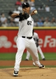 Aug 27, 2013; Chicago, IL, USA; Chicago White Sox starting pitcher Jose Quintana (62) pitches against the Houston Astros during the first inning at U.S. Cellular Field. Mandatory Credit: David Banks-USA TODAY Sports