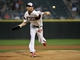 Aug 28, 2013; Chicago, IL, USA; Chicago White Sox starting pitcher Chris Sale (49) pitches against the Houston Astros during the first inning at U.S. Cellular Field.  Mandatory Credit: David Banks-USA TODAY Sports