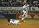 Aug 28, 2013; Chicago, IL, USA; Houston Astros shortstop Jonathan Villar (6) forces out Chicago White Sox center fielder Avisail Garcia (26) at second base during the sixth inning at U.S. Cellular Field.  Mandatory Credit: David Banks-USA TODAY Sports